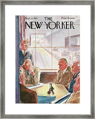 New Yorker September 15th, 1945 Framed Print by Garrett Price