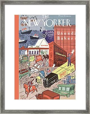 New Yorker September 16th, 1933 Framed Print by Harry Brown