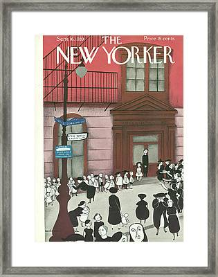 New Yorker September 16th, 1939 Framed Print by Christina Malman