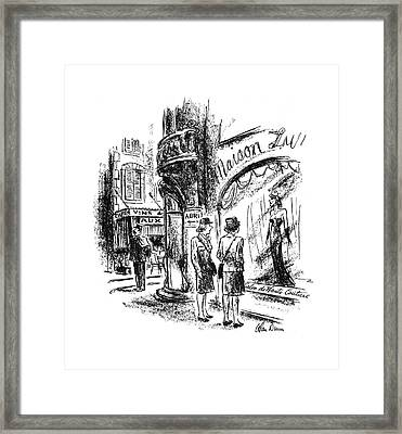 New Yorker September 16th, 1944 Framed Print