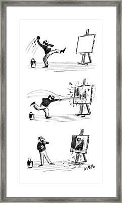 New Yorker September 16th, 1961 Framed Print by Warren Miller