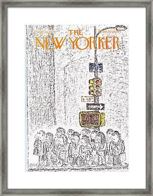 New Yorker September 16th, 1974 Framed Print by Edward Koren