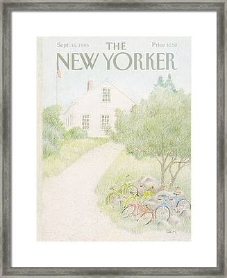 New Yorker September 16th, 1985 Framed Print by Charles E. Martin