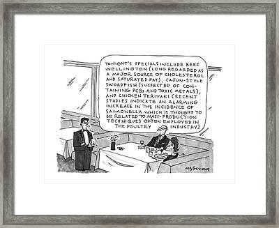 New Yorker September 16th, 1991 Framed Print by Mick Stevens