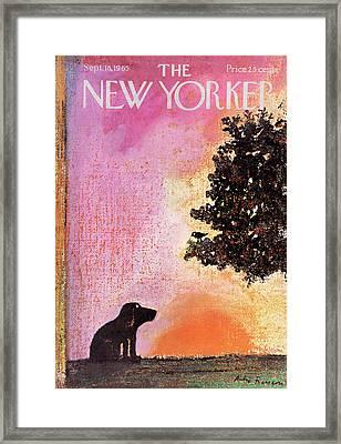 New Yorker September 18th, 1965 Framed Print by Andre Francois