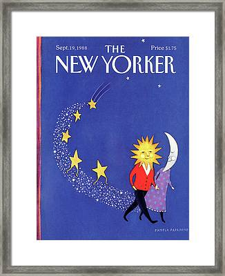 New Yorker September 19th, 1988 Framed Print