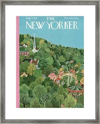 New Yorker September 1st, 1951 Framed Print