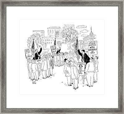 New Yorker September 20th, 1952 Framed Print by Robert J. Day