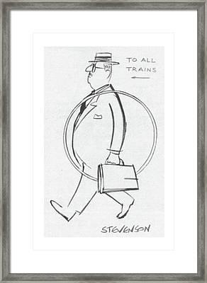 New Yorker September 20th, 1958 Framed Print by James Stevenson