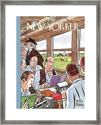 New Yorker September 21st, 1940 Framed Print by Peter Arno
