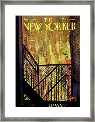 New Yorker September 21st, 1968 Framed Print