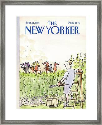 New Yorker September 21st, 1987 Framed Print by James Stevenson