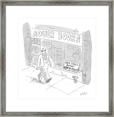 New Yorker September 21st, 1998 Framed Print by Roz Chast