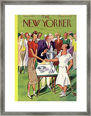 New Yorker September 22nd, 1934 Framed Print by Harry Brown