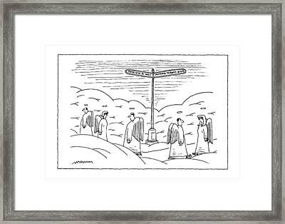 New Yorker September 22nd, 1997 Framed Print by Mick Steven
