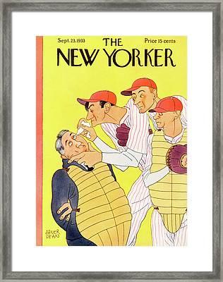 New Yorker September 23rd, 1933 Framed Print by Abner Dean