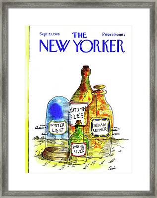 New Yorker September 23rd, 1974 Framed Print by Jean-Claude Suares