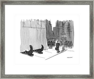 New Yorker September 23rd, 1991 Framed Print by James Stevenson