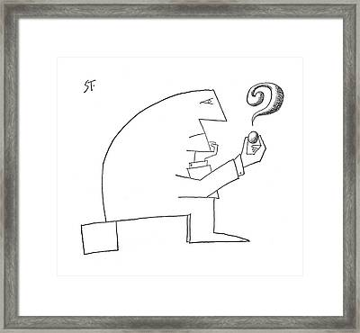 New Yorker September 24th, 1960 Framed Print by Saul Steinberg