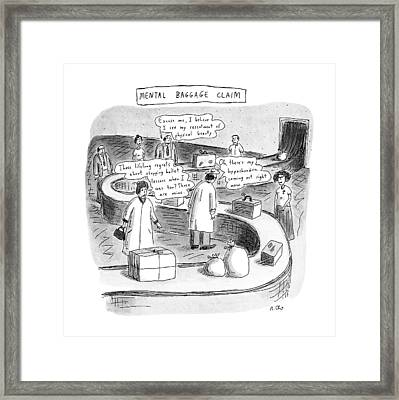 New Yorker September 24th, 1990 Framed Print by Roz Chast