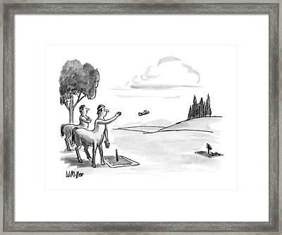 New Yorker September 24th, 1990 Framed Print