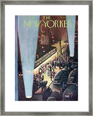 New Yorker September 26th, 1953 Framed Print by Arthur Getz