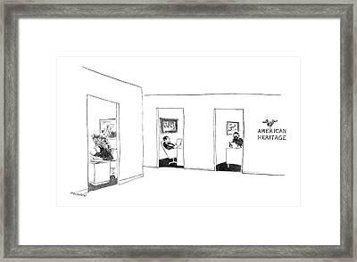 New Yorker September 26th, 1964 Framed Print by James Stevenson