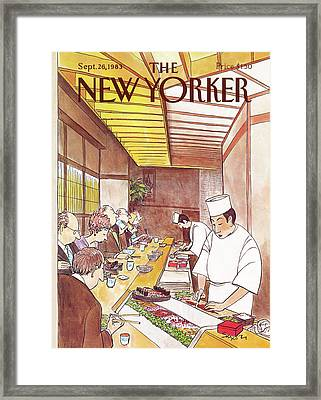 New Yorker September 26th, 1983 Framed Print by Charles Saxon