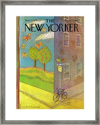New Yorker September 27th, 1976 Framed Print by Eugene Mihaesco