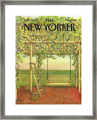 New Yorker September 27th, 1982 Framed Print by Jenni Oliver