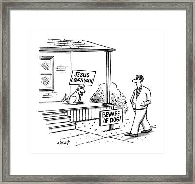 New Yorker September 27th, 1993 Framed Print by Tom Cheney
