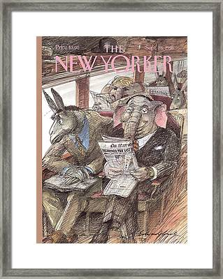 New Yorker September 28th, 1998 Framed Print by Edward Sorel