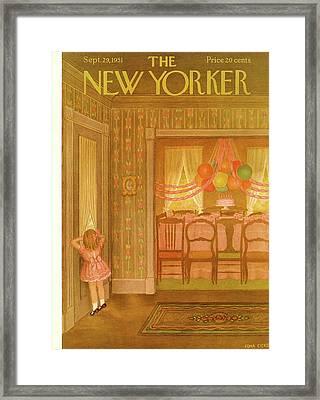 New Yorker September 29th, 1951 Framed Print by Edna Eicke