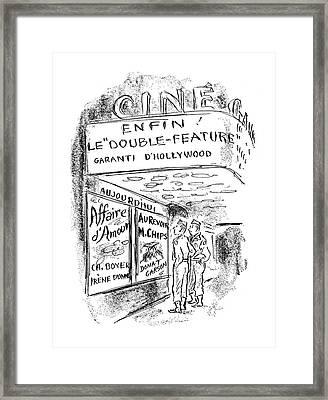 New Yorker September 30th, 1944 Framed Print by Alan Dunn