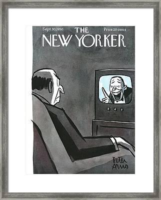 New Yorker September 30th, 1950 Framed Print by Peter Arno