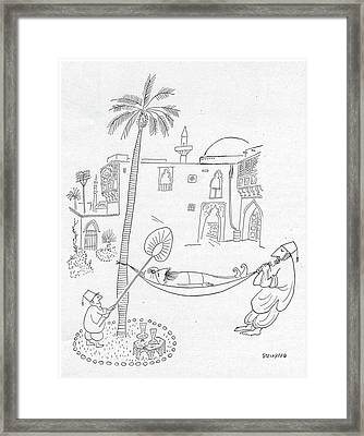 New Yorker September 30th, 1950 Framed Print by Saul Steinberg