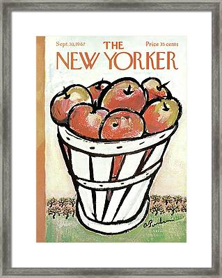 New Yorker September 30th, 1967 Framed Print by Abe Birnbaum