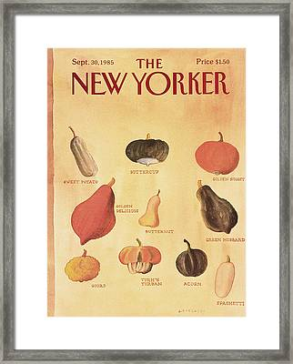 New Yorker September 30th, 1985 Framed Print by Abel Quezada