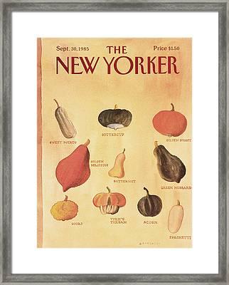 New Yorker September 30th, 1985 Framed Print