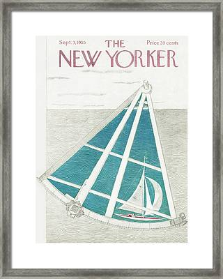 New Yorker September 3rd, 1955 Framed Print by Ilonka Karasz