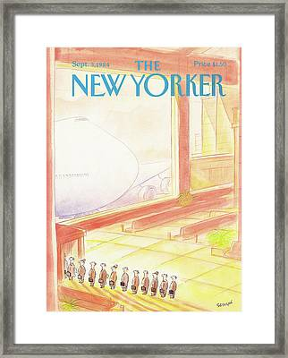 New Yorker September 3rd, 1984 Framed Print by Jean-Jacques Sempe