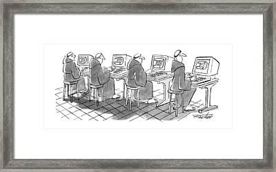 New Yorker September 3rd, 1990 Framed Print by Mischa Richter
