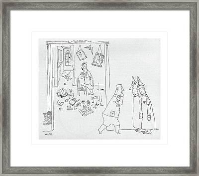 New Yorker September 4th, 1943 Framed Print by Saul Steinberg