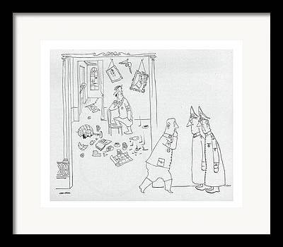 Torn Apart Drawings Framed Prints