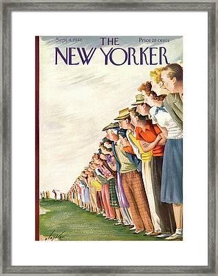 New Yorker September 4th, 1948 Framed Print by Constantin Alajalov