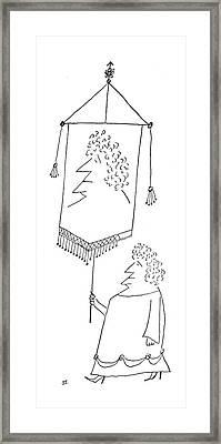 New Yorker September 4th, 1954 Framed Print by Saul Steinberg
