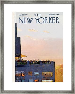 New Yorker September 5th, 1970 Framed Print by Arthur Getz