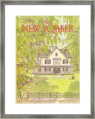 New Yorker September 5th, 1983 Framed Print by Jenni Oliver
