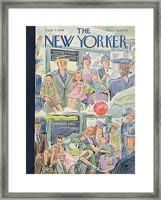 New Yorker September 7th, 1940 Framed Print by Perry Barlow