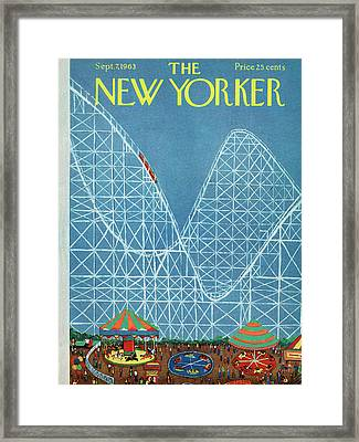 New Yorker September 7th, 1963 Framed Print by Robert Kraus